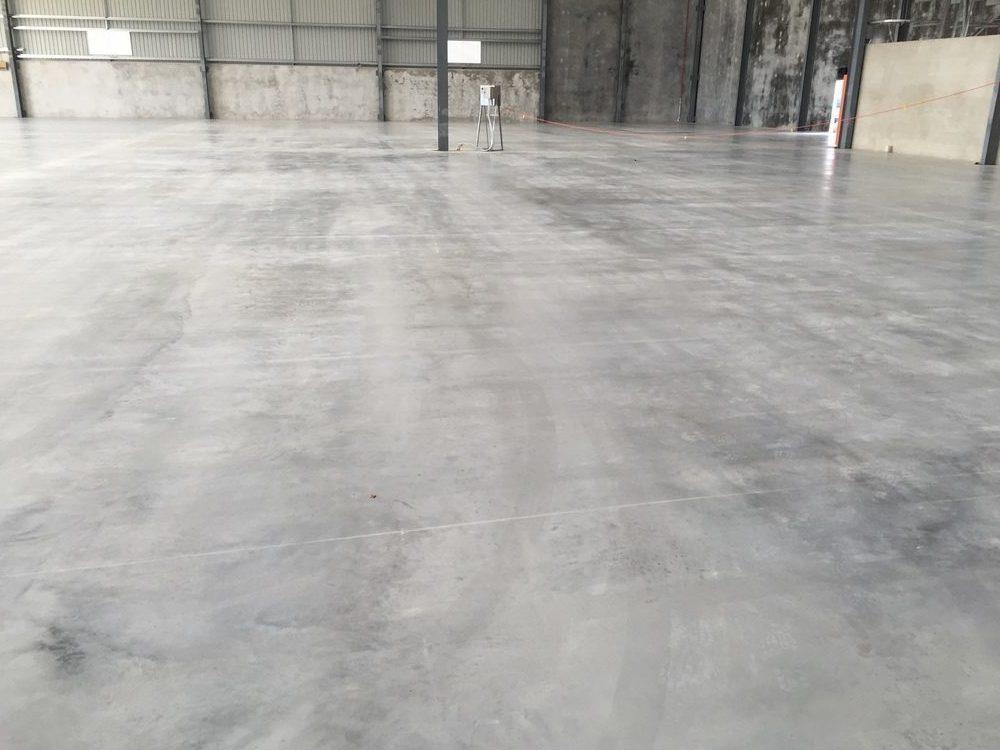 Sealed warehouse concrete slab
