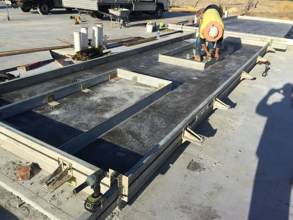 Tilt Panel Formwork ready for reo install
