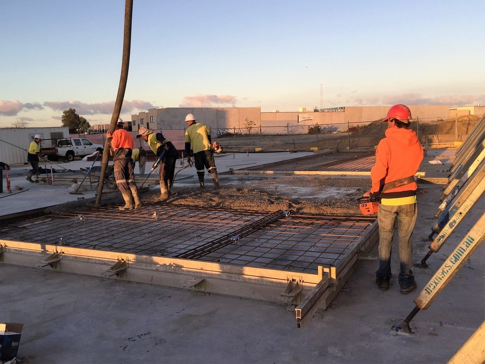 Tilt Panel Contruction - pouring in process