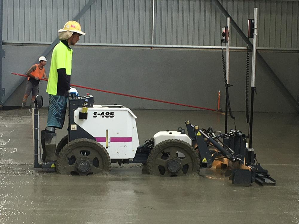 Concrete Floor Levelling using Laser Screed